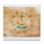 Rhode Island Flag Tile Coaster