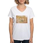 Rhode Island Flag Women's V-Neck T-Shirt