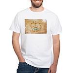 Rhode Island Flag White T-Shirt