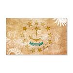 Rhode Island Flag 22x14 Wall Peel
