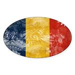 Romania Flag Sticker (Oval 50 pk)