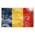 Romania Flag Sticker (Rectangle)