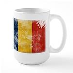 Romania Flag Large Mug