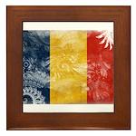 Romania Flag Framed Tile