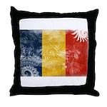 Romania Flag Throw Pillow