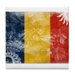 Romania Flag Tile Coaster