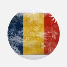 Romania Flag Ornament (Round)