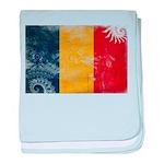 Romania Flag baby blanket