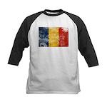 Romania Flag Kids Baseball Jersey