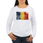 Romania Flag Women's Long Sleeve T-Shirt