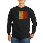 Romania Flag Long Sleeve Dark T-Shirt
