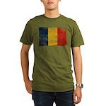 Romania Flag Organic Men's T-Shirt (dark)