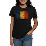 Romania Flag Women's Dark T-Shirt