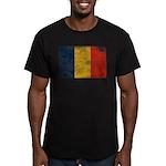 Romania Flag Men's Fitted T-Shirt (dark)