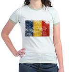 Romania Flag Jr. Ringer T-Shirt