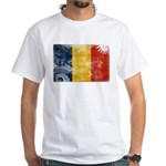 Romania Flag White T-Shirt