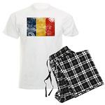 Romania Flag Men's Light Pajamas