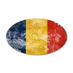 Romania Flag 38.5 x 24.5 Oval Wall Peel