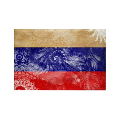 Russia Flag Rectangle Magnet (100 pack)