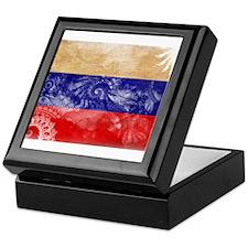 Russia Flag Keepsake Box