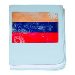 Russia Flag baby blanket