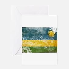 Rwanda Flag Greeting Card
