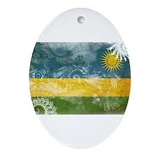 Rwanda Flag Ornament (Oval)