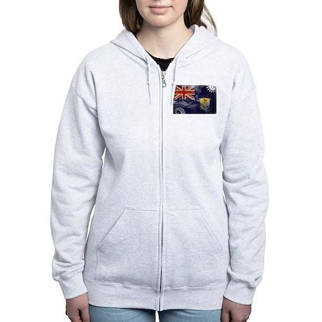 Saint Helena Flag Women's Zip Hoodie