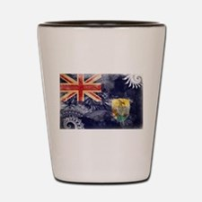 Saint Helena Flag Shot Glass