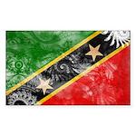 Saint Kitts Nevis Flag Sticker (Rectangle 10 pk)