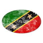 Saint Kitts Nevis Flag Sticker (Oval 50 pk)