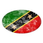 Saint Kitts Nevis Flag Sticker (Oval)