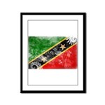 Saint Kitts Nevis Flag Framed Panel Print