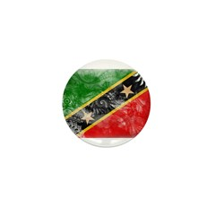 Saint Kitts Nevis Flag Mini Button