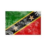 Saint Kitts Nevis Flag Rectangle Magnet (10 pack)