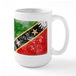 Saint Kitts Nevis Flag Large Mug