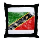 Saint Kitts Nevis Flag Throw Pillow