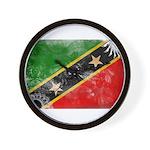 Saint Kitts Nevis Flag Wall Clock