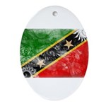 Saint Kitts Nevis Flag Ornament (Oval)