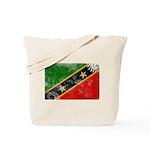 Saint Kitts Nevis Flag Tote Bag