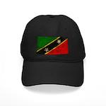Saint Kitts Nevis Flag Black Cap