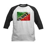 Saint Kitts Nevis Flag Kids Baseball Jersey