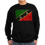 Saint Kitts Nevis Flag Sweatshirt (dark)