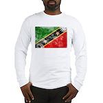 Saint Kitts Nevis Flag Long Sleeve T-Shirt