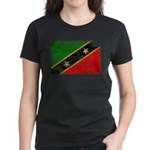 Saint Kitts Nevis Flag Women's Dark T-Shirt