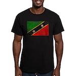 Saint Kitts Nevis Flag Men's Fitted T-Shirt (dark)