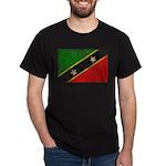 Saint Kitts Nevis Flag Dark T-Shirt