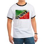 Saint Kitts Nevis Flag Ringer T