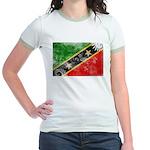 Saint Kitts Nevis Flag Jr. Ringer T-Shirt
