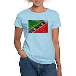 Saint Kitts Nevis Flag Women's Light T-Shirt